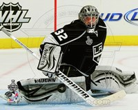 Jonathan Quick Game 3 of the 2012 Stanley Cup Finals Action Fine Art Print