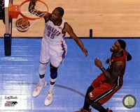 Kevin Durant Game 1 of the 2012 NBA Finals Action Fine Art Print