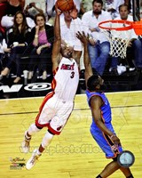 Dwyane Wade Game 3 of the 2012 NBA Finals Action Fine Art Print