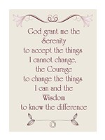Serenity Prayer quote Fine Art Print