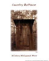 Country Outhouse Fine Art Print