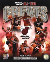 Miami Heat All Time Greats Pictures Composite Fine Art Print