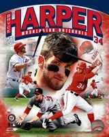 Bryce Harper 2012 Portrait Plus Framed Print