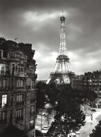 Eiffel Tower Evening Fine Art Print