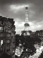 Eiffel Tower Evening Fine Art Print