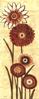 Happy Flowers Neutral Panel II Fine Art Print