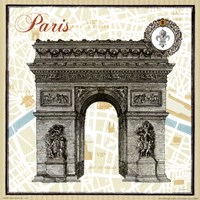 Monuments des Paris Arc Fine Art Print