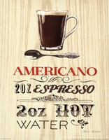 Americano Framed Print