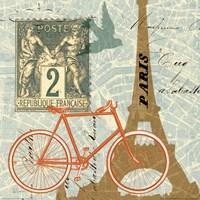 Postcard from Paris Collage Fine Art Print