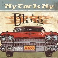 Mancave II - My Car is My Bling Fine Art Print