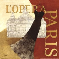 Paris Dress - L' Opera Fine Art Print