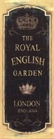 Garden View IX - Royal English Framed Print