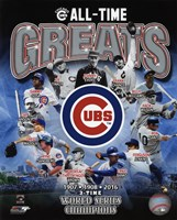 Chicago Cubs All Time Greats Composite Fine Art Print