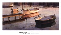 Barques al Port Fine Art Print
