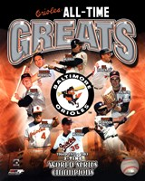 Baltimore Orioles All-Time Greats Framed Print
