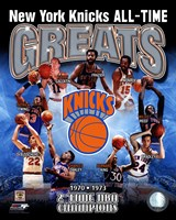 New York Knicks - All-Time Greats Composite Framed Print