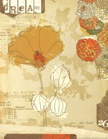 Collaged Botanicals II Fine Art Print