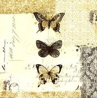 Golden Bees n Butterflies No. 2 Fine Art Print