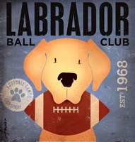 Labrador Ball Club Fine Art Print