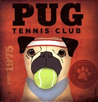 Pug Tennis Club Fine Art Print