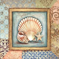 Ocean Treasures Bath I Framed Print