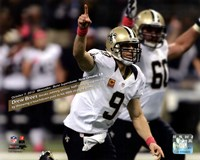 Drew Brees breaks Johnny Unitas' half-century-old record Fine Art Print