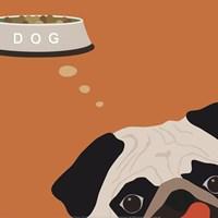 Peek-A-Boo Pug Framed Print