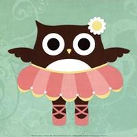 Ballerina Owl Framed Print