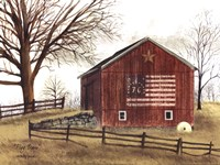 Flag Barn Framed Print