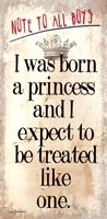 Born a Princess Fine Art Print