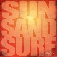 Sun. Sand, Surf Fine Art Print
