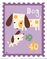 Animal Stamps - Dog Fine Art Print