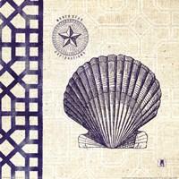 Sea Shore Square III Fine Art Print