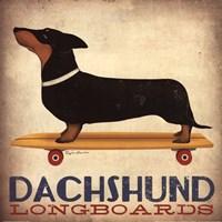 Dachsund Longboards Framed Print