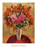 Fire Flowers Fine Art Print