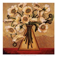 White Autumn Poppies Fine Art Print