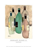 Elegant Wines II Fine Art Print