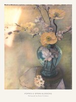 Poppies and Spring Blossoms Fine Art Print