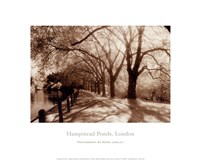 Hampstead Ponds, London Fine Art Print