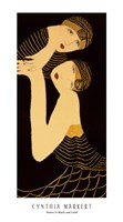 Sisters in Black and Gold Fine Art Print