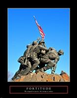 Fortitude-Iwo Jima Framed Print