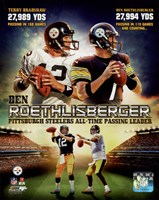 Ben Roethlisberger Pittsburgh Steelers All-time Passing Leader Composite Fine Art Print