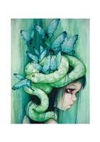 The Purple Tear Girl Fine Art Print