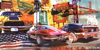 Muscle Cars Framed Print