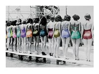 Coney Island Line Up, 1935 Fine Art Print