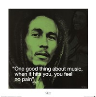 Bob Marley- No Pain Framed Print