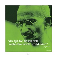 Mahatma Gandhi- Blind World Fine Art Print