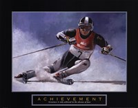 Achievement - Skier Fine Art Print