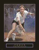 Power - Tennis Player Fine Art Print