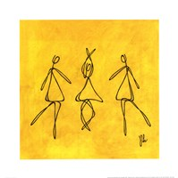 Joy - Yellow Dancers Fine Art Print